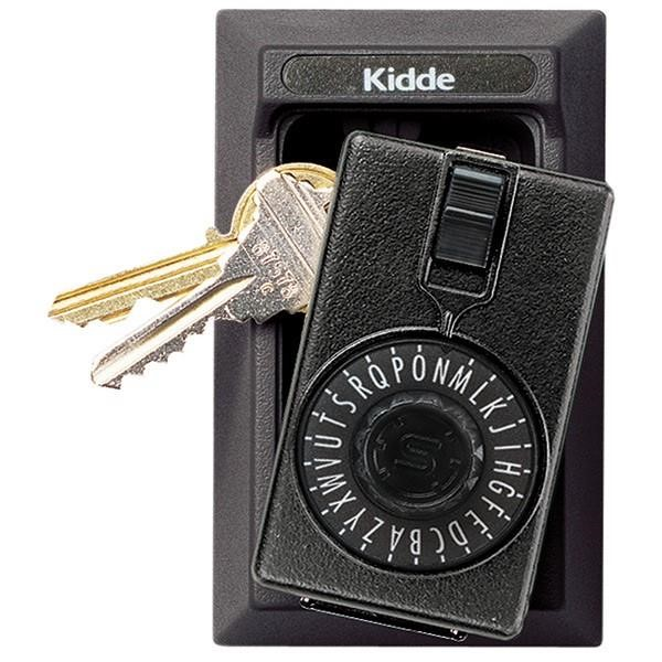 "Kidde KeySafeâ""¢ Original Dial Lid Key Box (Permanent), Black"