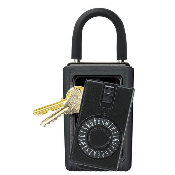 "Kidde KeySafeâ""¢ Original Dial Lid Key Box (Portable), Black, Reshipper"