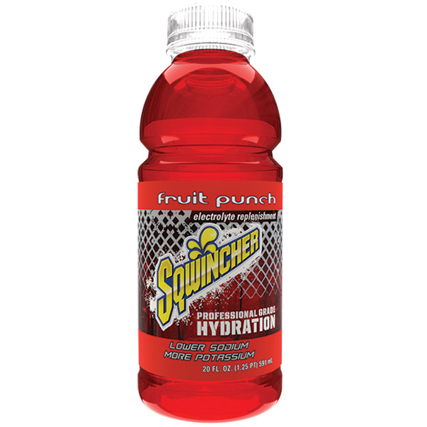 Sqwincher® Ready-To-Drink, 20 oz Bottles/Yield, Fruit Punch