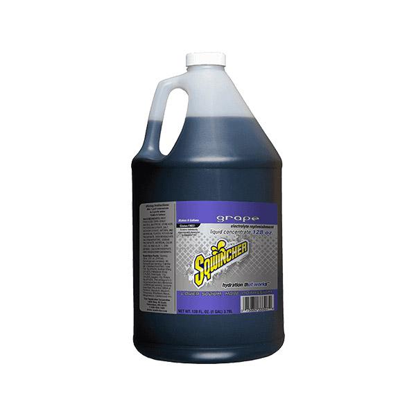 Sqwincher® Regular Liquid Concentrate, 128 oz Jugs, 6 gal Yield, Grape