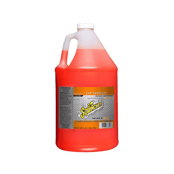 Sqwincher® Regular Liquid Concentrate, 128 oz Jugs, 6 gal Yield, Orange