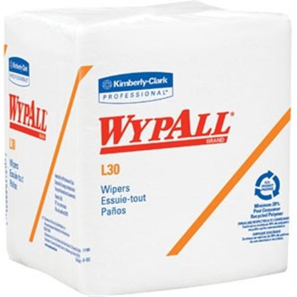 "WypAll* L30 Wipers, 1/4-Fold, 12 1/2"" x 12"", 12 Packs/90 ea"