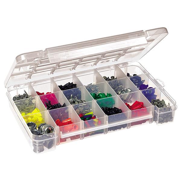 "Akro-Mils® Plastic Storage Case, 18 Compartments, 14 3/8""L x 2 1/2""H x 9 1/2""W"