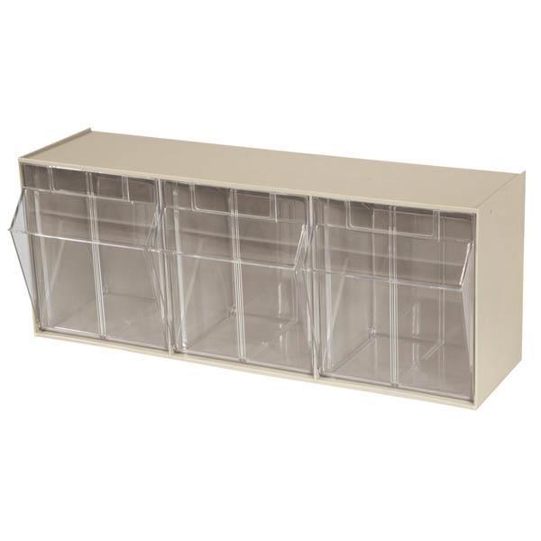 "Akro-Mils® Tiltview® Bins Cabinet System, 3 Bin, 7 7/8""L x 9 7/16""H x 23 5/8""W"