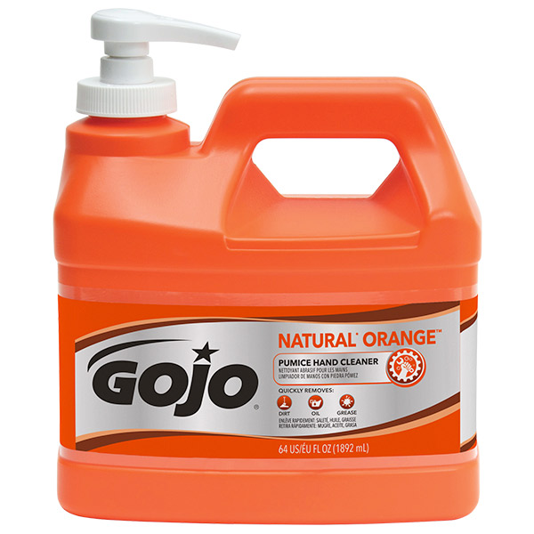 Gojo® Natural* Orange™ Pumice Hand Cleaner, 0.5 gal Pump Bottle