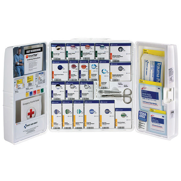 50-Person SmartCompliance Standard Business First Aid Kit w/ Medications, Plastic