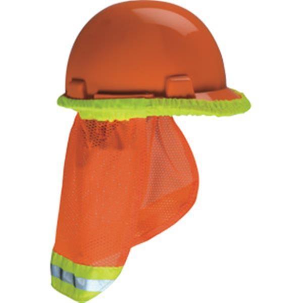 MSA V-Gard® Hard Hat Sun Shade, Hi-Vis Orange