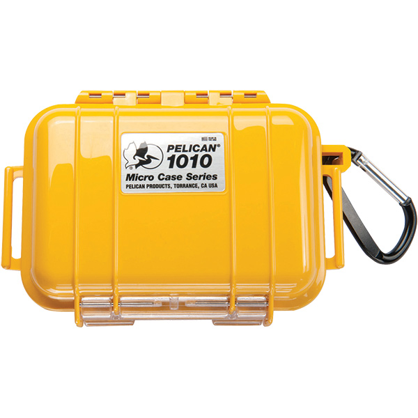 "Pelicanâ""¢ Protector Caseâ""¢ 1010 Micro Case, 5 7/8""L x 4 1/16""W x 2 1/8""D, Yellow"
