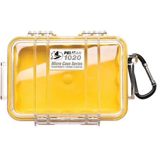 "Pelicanâ""¢ Protector Caseâ""¢ 1020 Micro Case, 6 13/16""L x 4 3/4""W x 2 1/8""D, Yellow"