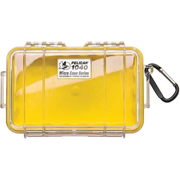 "Pelicanâ""¢ Protector Caseâ""¢ 1040 Micro Case, 7 1/2""L x 5 1/16""W x 2 1/8""D, Yellow"