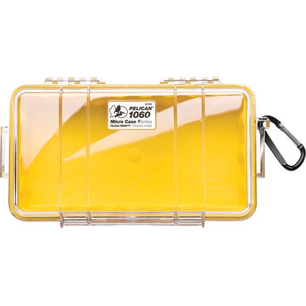 "Pelicanâ""¢ Protector Caseâ""¢ 1060 Micro Case, 9 3/8""L x 5 9/16""W x 2 5/8""D, Yellow"