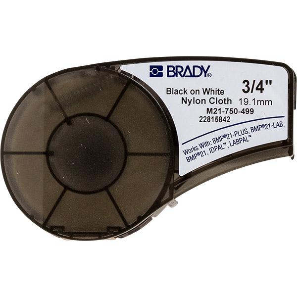 """Brady® BMP®21 Mobile Label Printer Labels, 0.75"""" x 16', Nylon Cloth"""