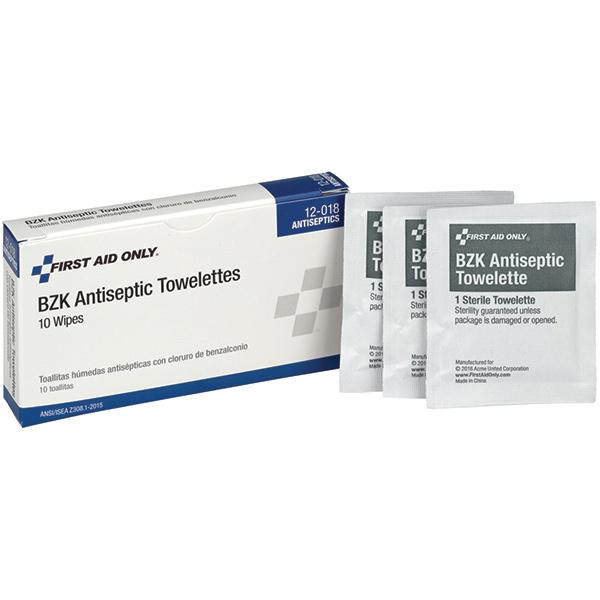 BZK Antiseptic Towelettes (Unitized Refill), 10/Box