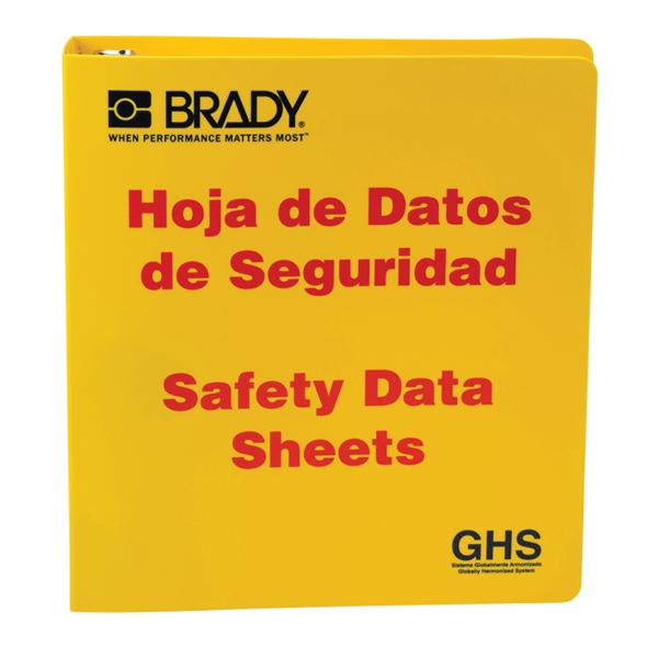 """Brady® GHS Standard SDS Binder, 1 1/2"""" Rings, Bilingual"""