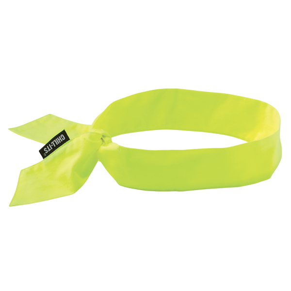 Ergodyne® Chill-Its® 6700 Cooling Bandanas, Tie Closure, Lime