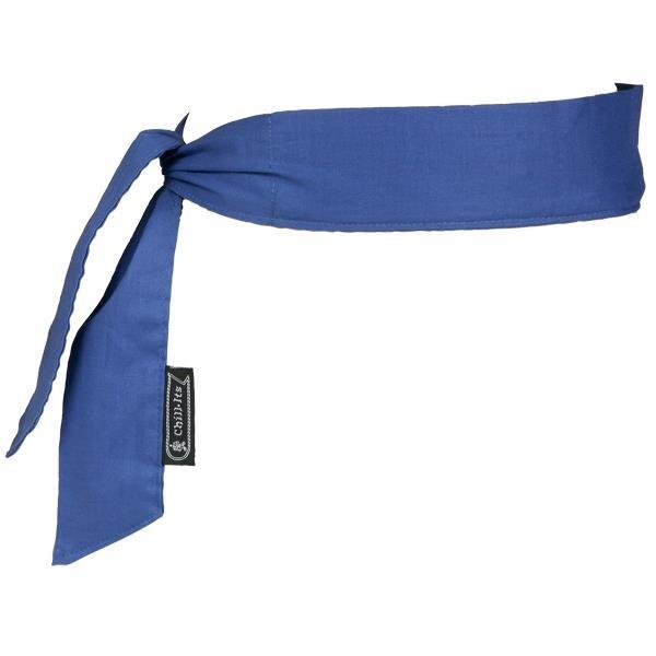 Ergodyne® Chill-Its® 6700 Cooling Bandanas, Tie Closure, Blue