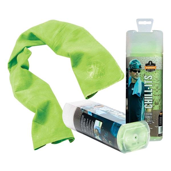 Ergodyne® Chill-Its® Evaporative Cooling Towel, Hi-Vis Lime