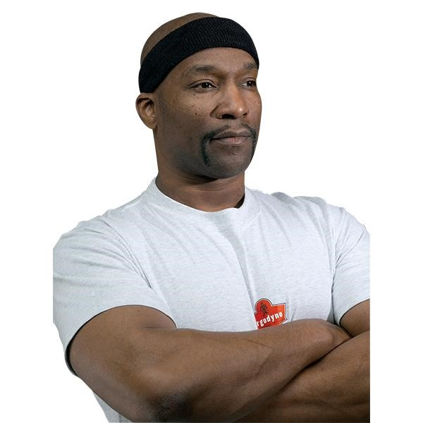 Ergodyne® Chill-Its® 6550 Head Sweatband, Black