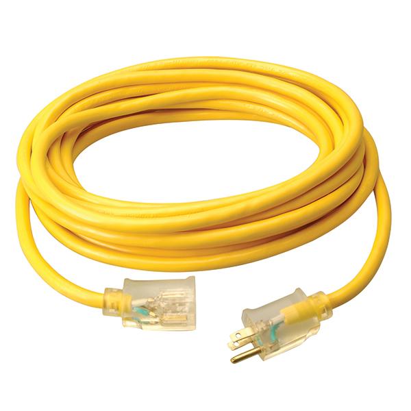 Polar/Solar® SJEOW Outdoor Extension Cord w/ Lighted End, 16/3 ga, 13 A, 25'