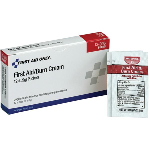 First Aid/Burn Cream (Unitized Refill), 0.9 g, 12/Box