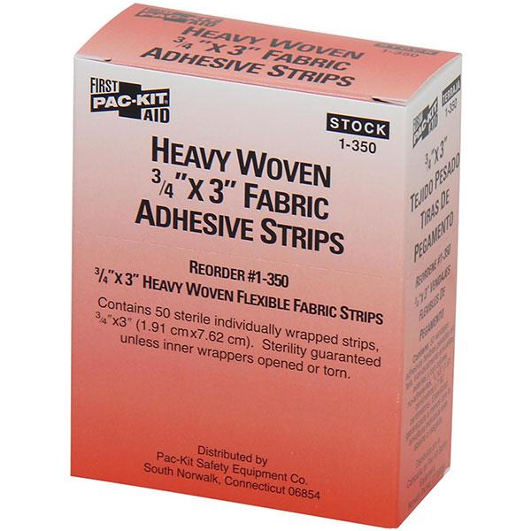 "Heavy Woven Fabric Bandage, 3/4"" x 3"", 50/Box"