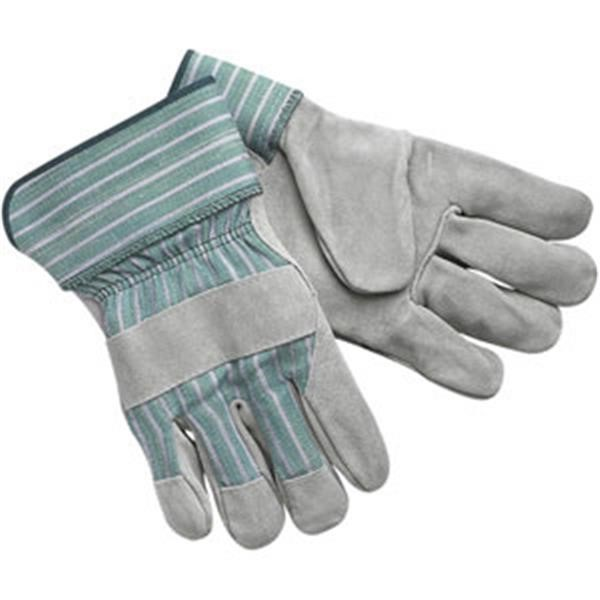 """MCR Safety® Select Shoulder Leather Palm Gloves, """"C"""" Grade, Rubberized Cuffs, Large"""