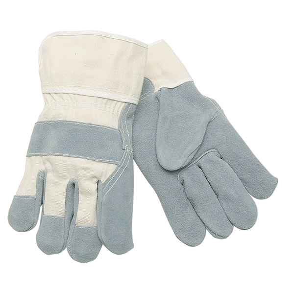 "MCR Safety® Select Shoulder Leather Palm Gloves, ""A"" Grade, Plasticized Cuffs, ANSI Cut A2, X-Large"