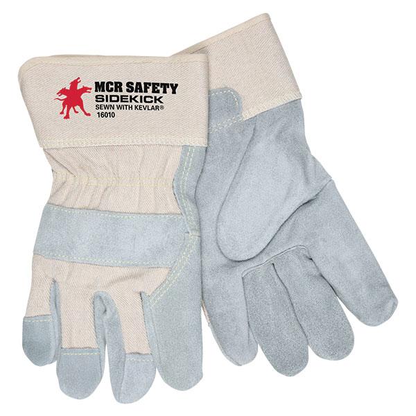 MCR Safety® SideKick® Single Leather Palm Gloves, Large
