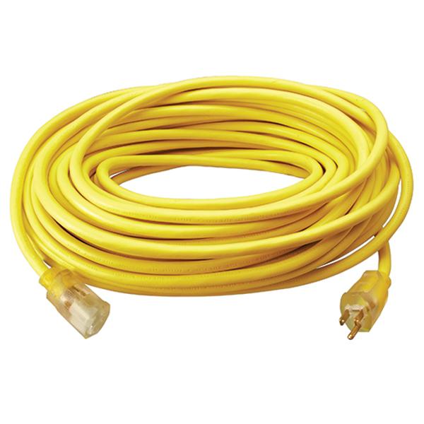 Polar/Solar® SJEOW Outdoor Extension Cord w/ Lighted End, 12/3 ga, 15 A, 25'