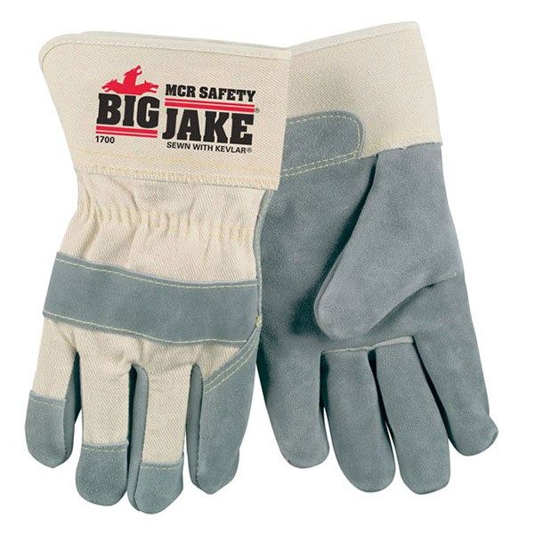 MCR Safety® Big Jake® Leather Palm Gloves