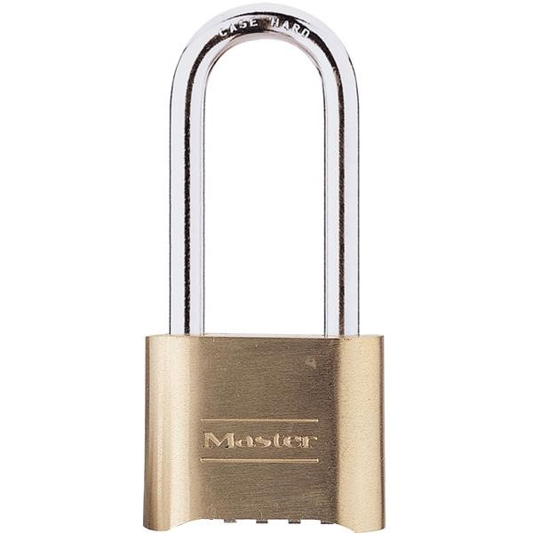 "Master Lock® 4-Digit Resettable Combination Padlock, 2 1/4"" Shackle"