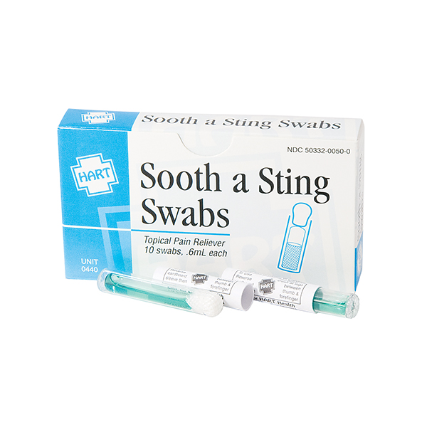Sting Relief Swabs (10/Box)
