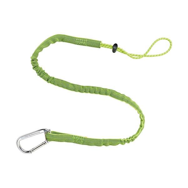Ergodyne® Squids® 3100 Tool Lanyard, Single Alum Carabiner, Extended, 10 lb, Lime