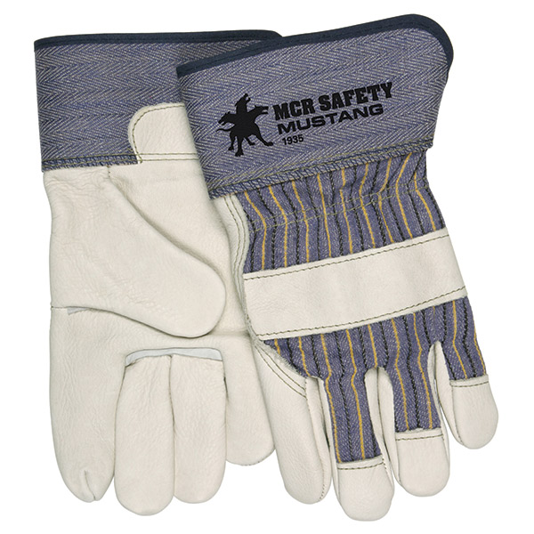 MCR Safety® Mustang™ Leather Palm Gloves, Large