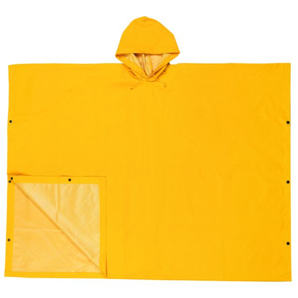 MCR Safety® Schooner II Poncho, 0.35 mm PVC/Polyester, Yellow