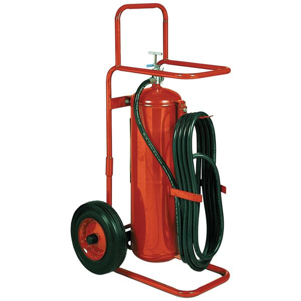 "Badgerâ""¢ 50 lb Wheeled Stored Pressure ABC Extinguisher,  25' Hose"