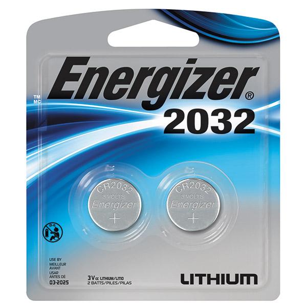 Energizer® 2032 Batteries, 2/Pkg