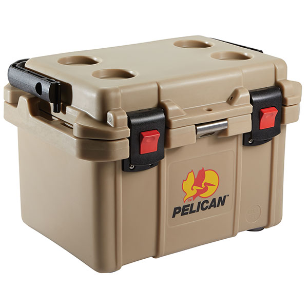 "Pelicanâ""¢ Elite Cooler w/ Flip Handle, 20 qt, Tan"
