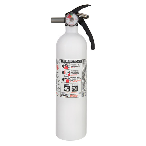 Kidde 2.75 lb BC Kitchen Extinguisher w/ Metal Valve & Wall Hook (Disposable)