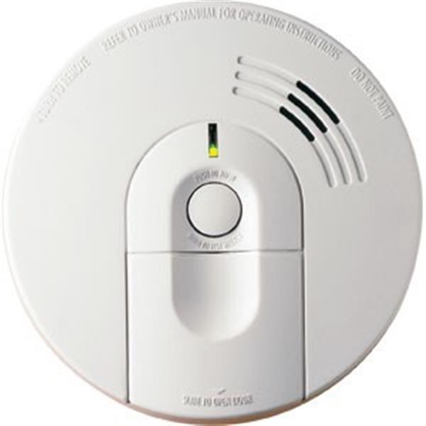 Kidde Interconnectable AC/DC Smoke Alarm w/ Front Loading Battery Door, Smart Hush, Silent Hush, Alarm Memory, & 360° Mounting Plate