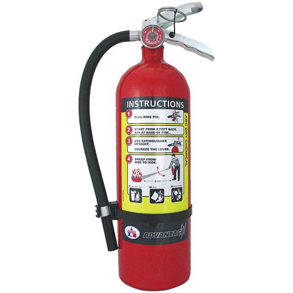 "Badgerâ""¢ Advantageâ""¢ 5 lb ABC Fire Extinguisher w/ Wall Hook"