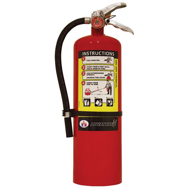 "Badgerâ""¢ Advantageâ""¢ 10 lb ABC Fire Extinguisher w/ Wall Hook"
