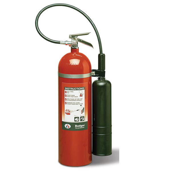 """Badgerâ""""¢ Extra 15 lb CO2 Fire Extinguisher w/ Wall Hook"""