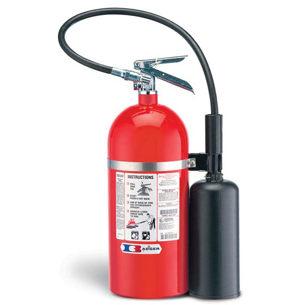 """Badgerâ""""¢ Extra 10 lb CO2 Fire Extinguisher w/ Wall Hook"""