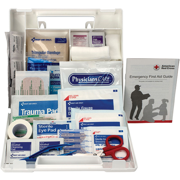 10-Person Bulk First Aid Kit w/ Dividers