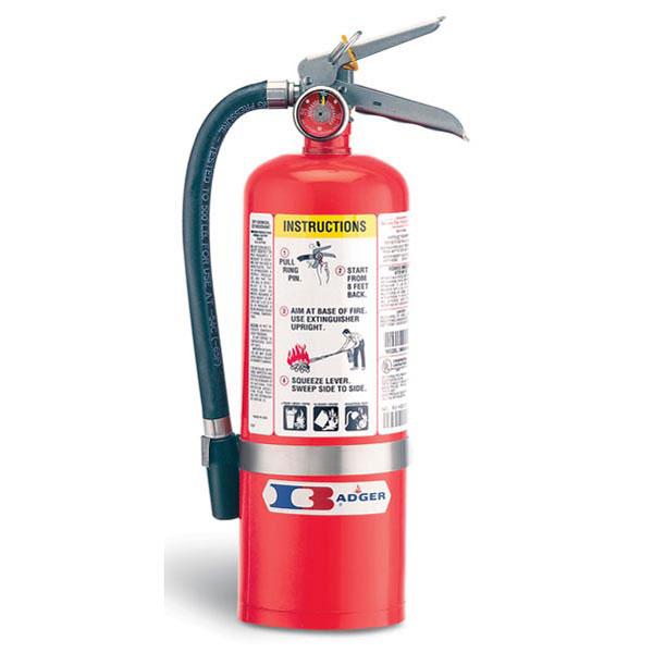 "Badgerâ""¢ Standard 5 lb ABC Fire Extinguisher w/ Vehicle Bracket"