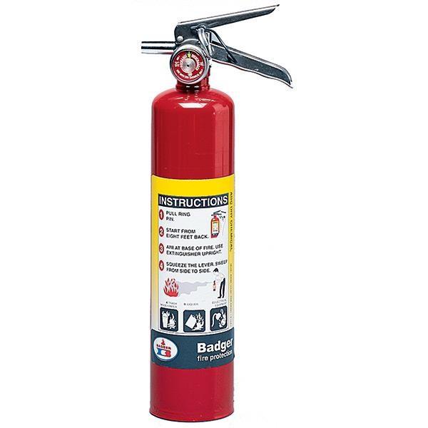 """Badgerâ""""¢ Extra 2.5 lb ABC Fire Extinguisher w/ Vehicle Bracket"""