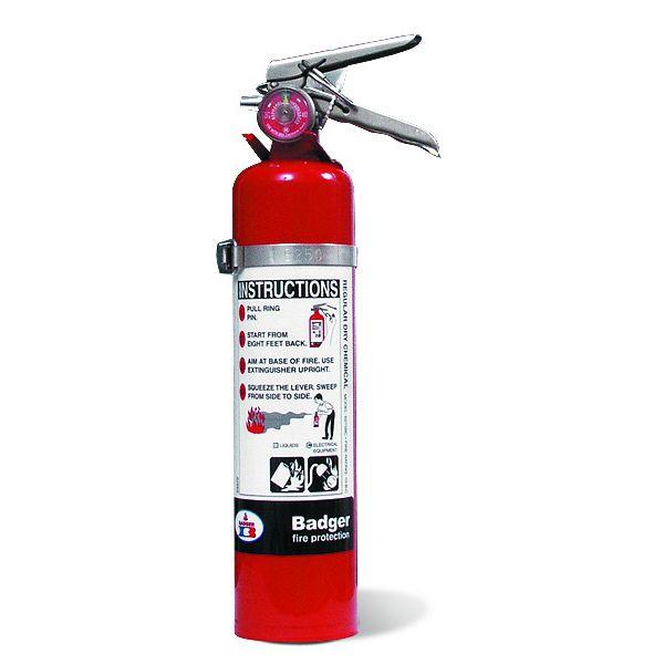 """Badgerâ""""¢ Extra 2.75 lb ABC Fire Extinguisher w/ Vehicle Bracket"""