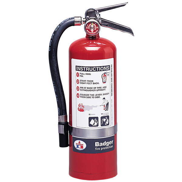 "Badgerâ""¢ Extra 5 lb BC Fire Extinguisher w/ Wall Hook"