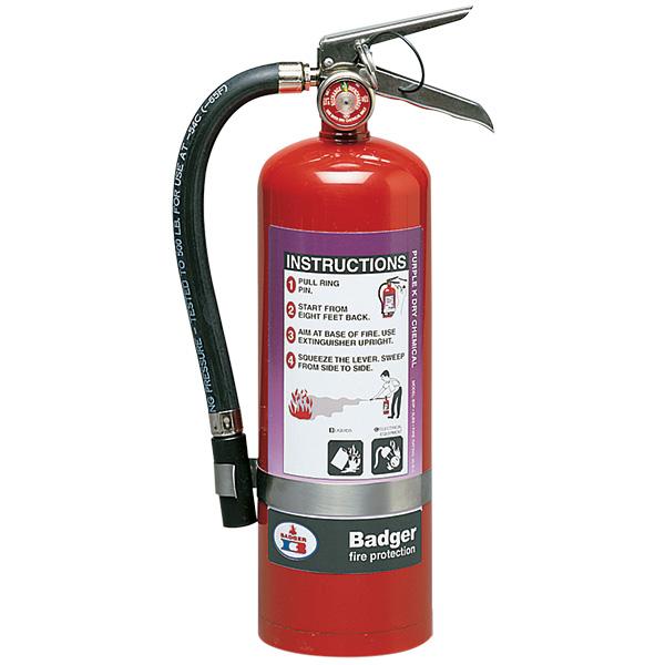 "Badgerâ""¢ Extra 5 lb Purple K Fire Extinguisher w/ Wall Hook"